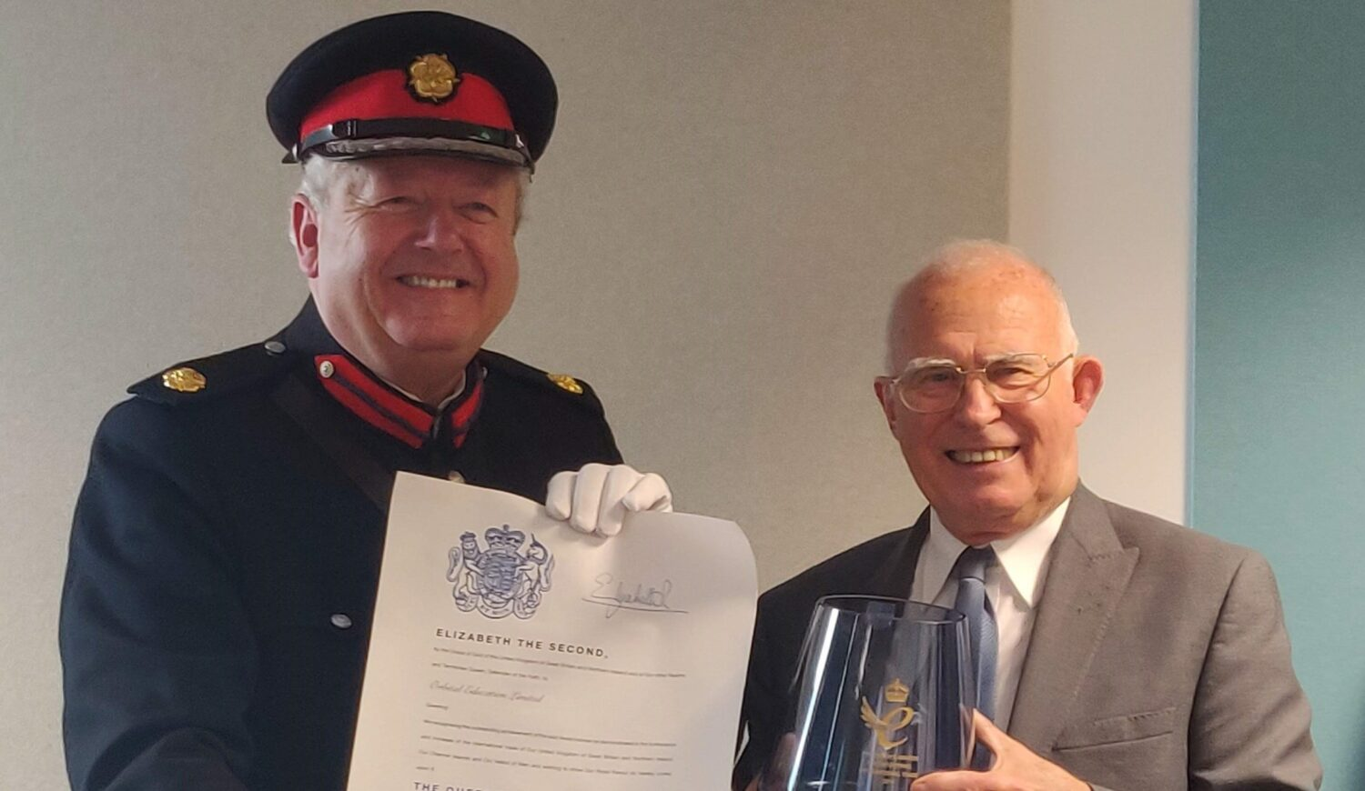 Kevin Mc Neany accepted the Queens Award