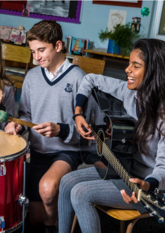 BIC Students Playing instruments
