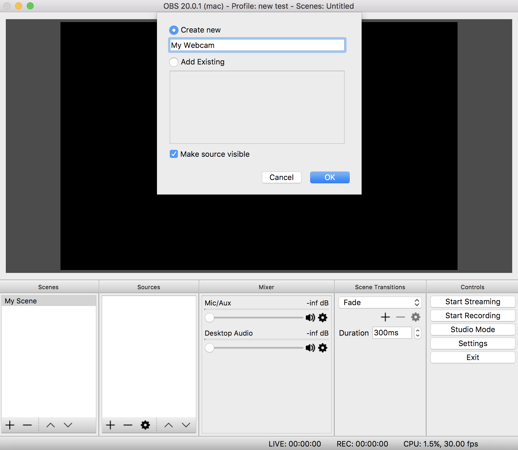 Naming Video Source OBS