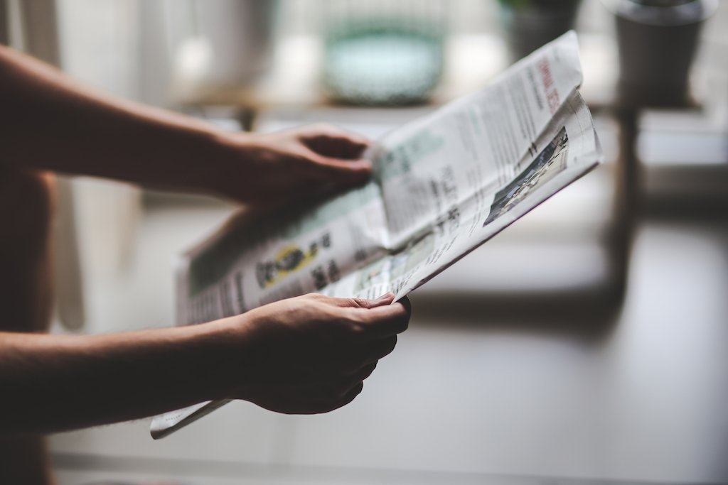 Newspaper Reading - Promote Your Radio Station