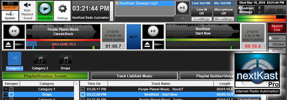 NextKast Radio Automation Software