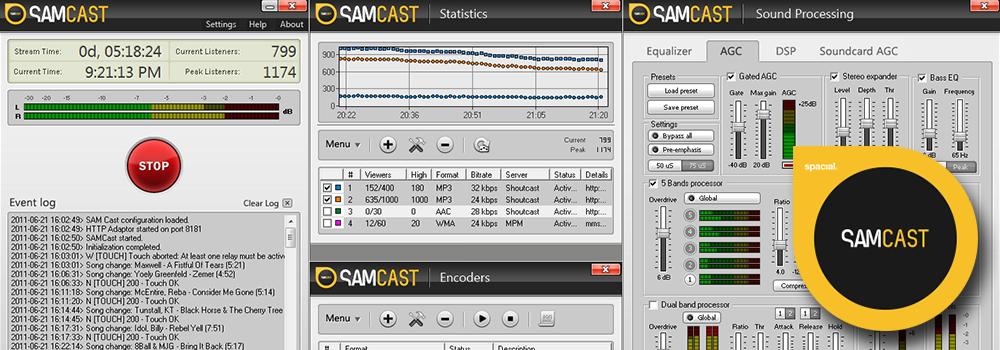SAM Cast Radio Automation Software