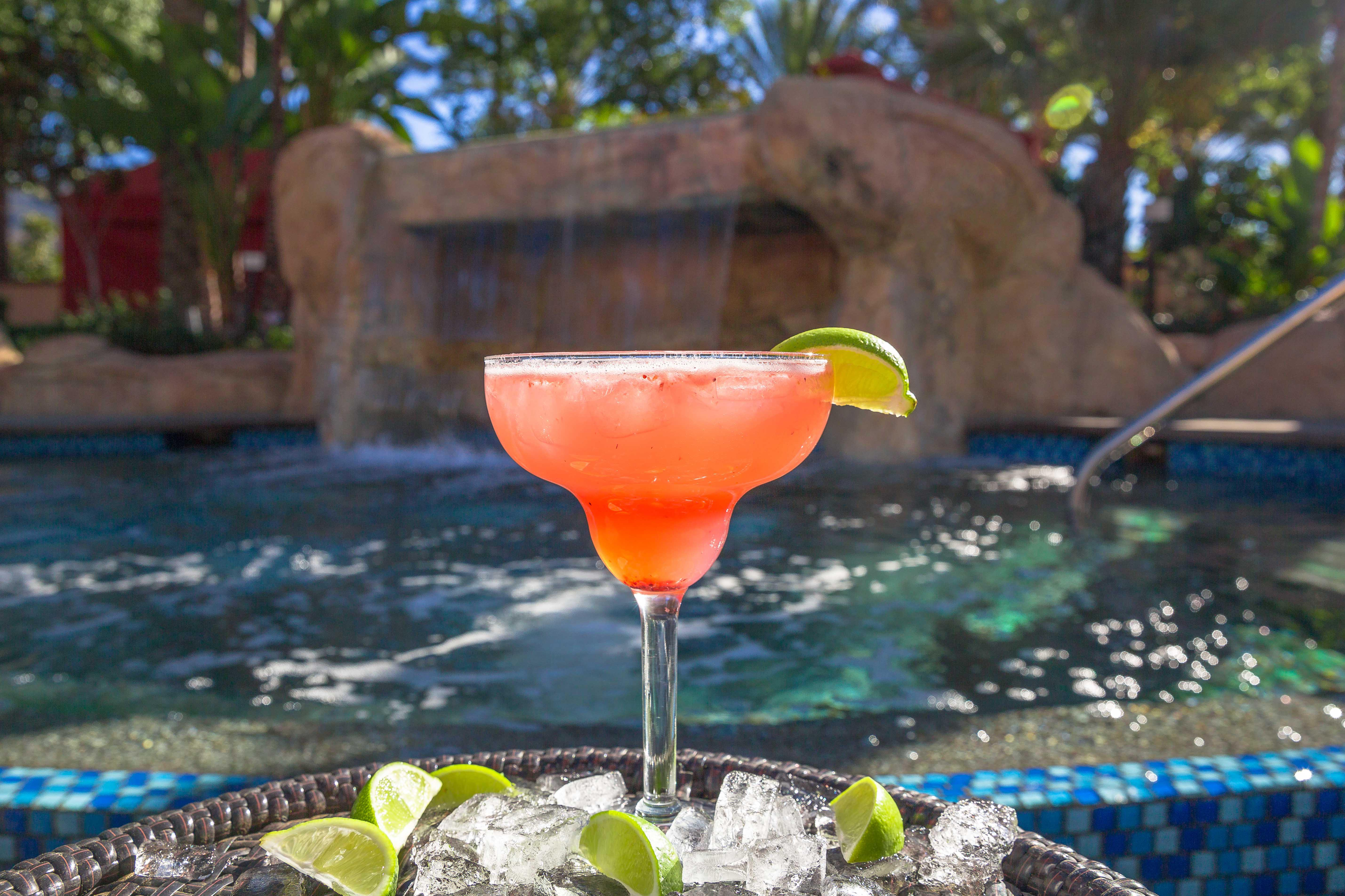 The Strawberry Mule 'rita is like summer in a glass!